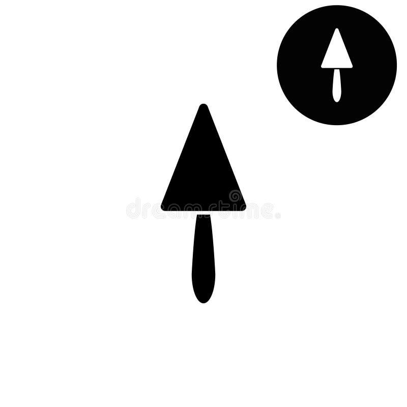 Réparation de spatule - icône blanche de vecteur illustration libre de droits