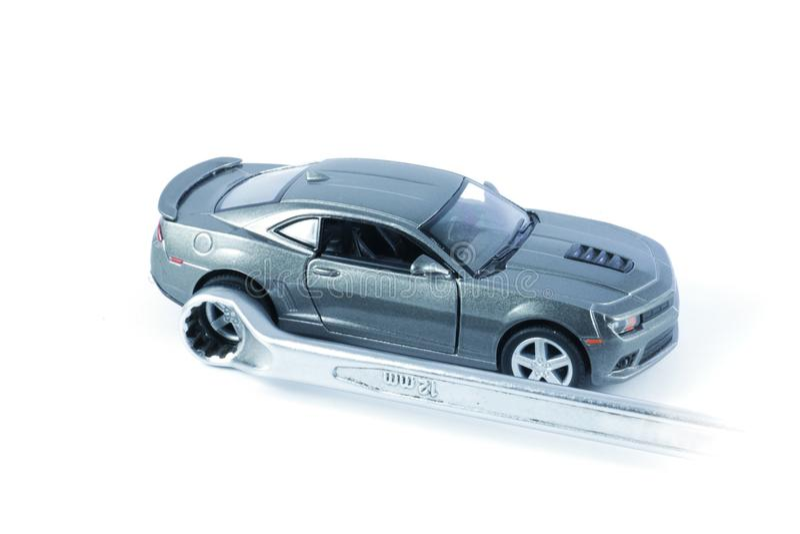 Réparation de voiture, service de voiture, entretien de voiture images libres de droits