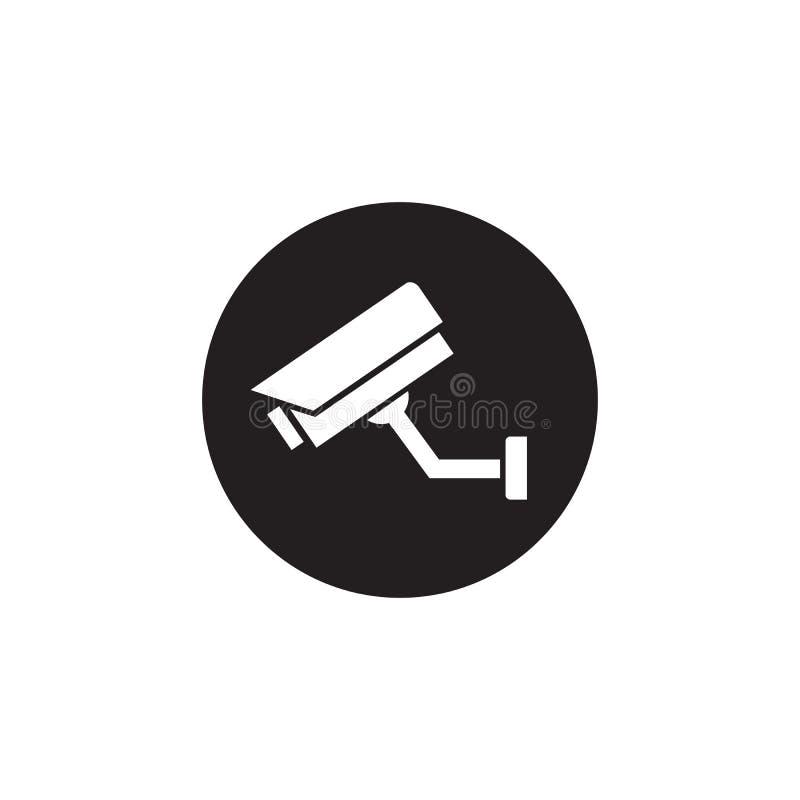 Réparation du modèle de vecteur d'icône de caméra de sécurité CCTV, isolé photographie stock libre de droits