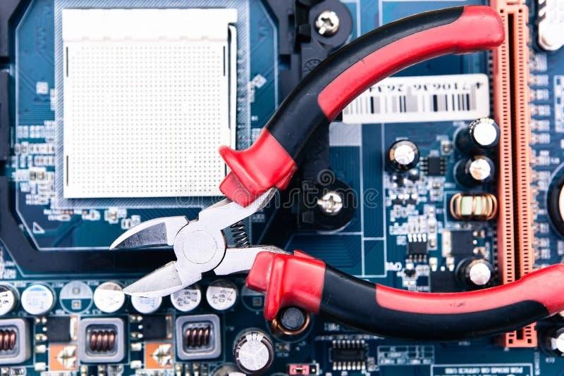 Réparation Et Entretien D Ordinateur Photos stock