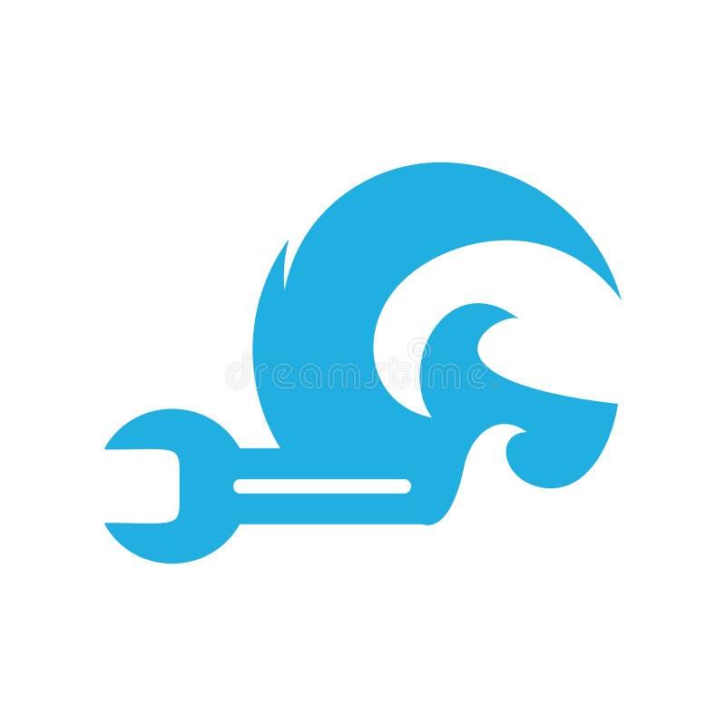 Réparation Logo Icon Design de vague illustration stock