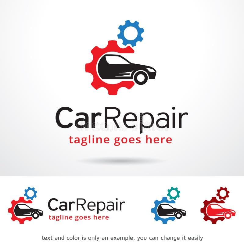 Réparation Logo Template Design Vector de voiture illustration stock