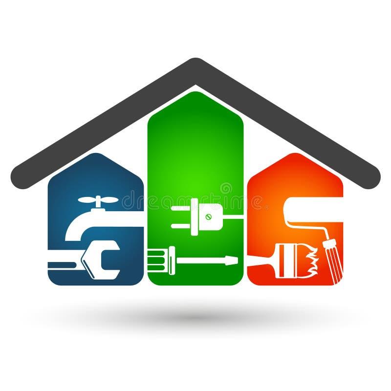 Réparations à la maison illustration libre de droits