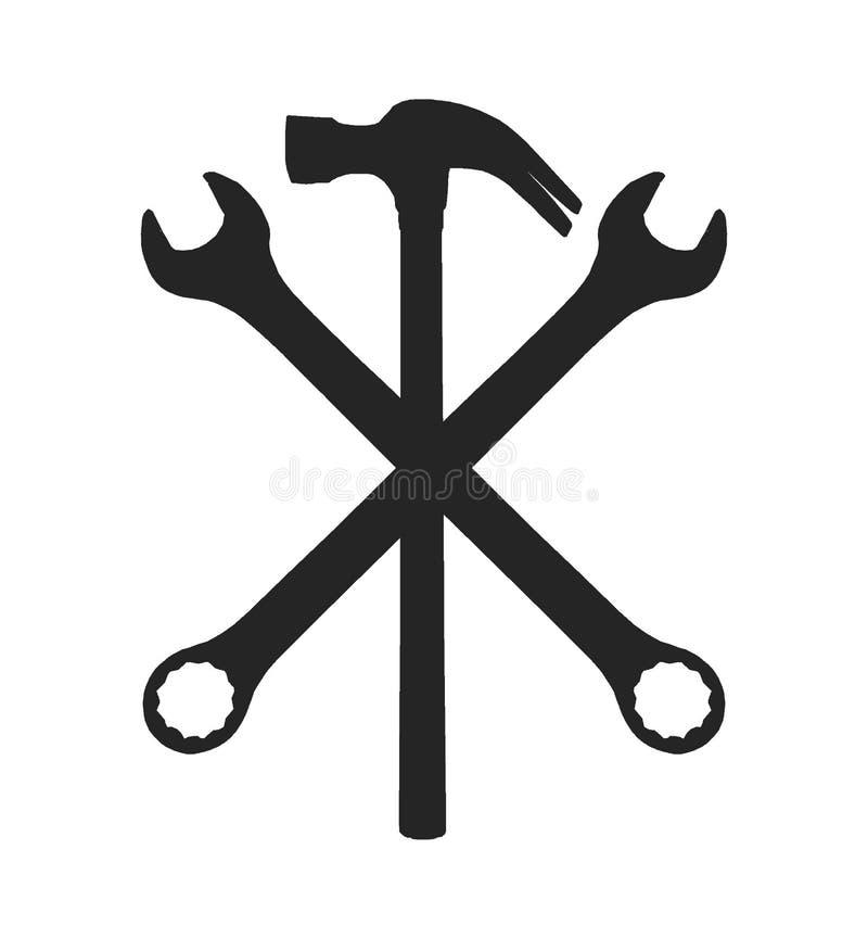 Réparez l'icône de signe illustration de vecteur