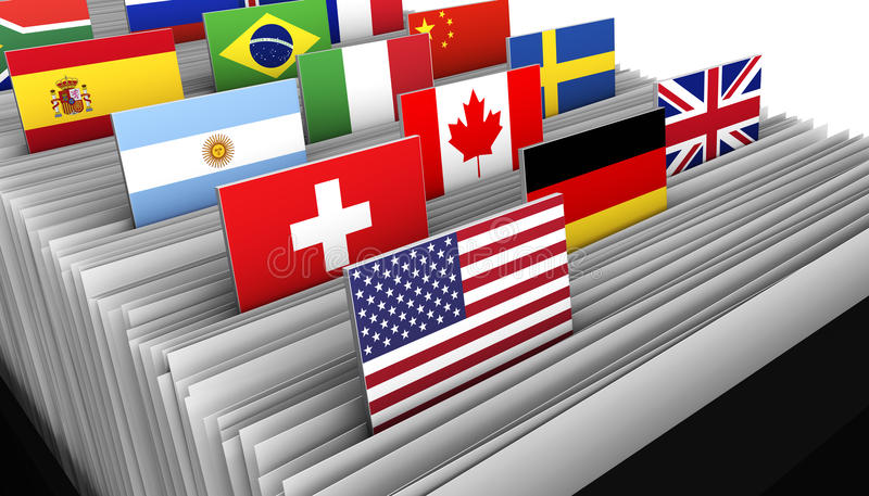 Répertoire de fichiers international de client professionnel illustration libre de droits