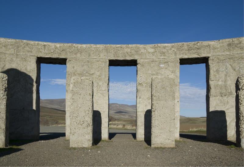 Réplica 02 de Stonehenge fotografia de stock