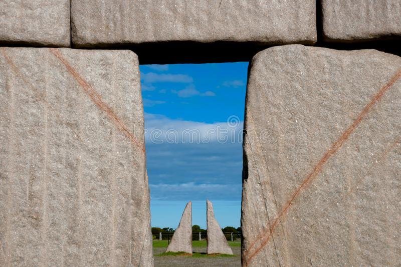 Réplica completa de Stonehenge imagens de stock royalty free