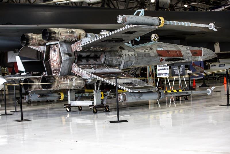 Réplica da X-asa de Starfighter foto de stock royalty free