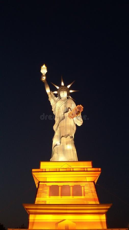 Réplica da estátua da liberdade foto de stock