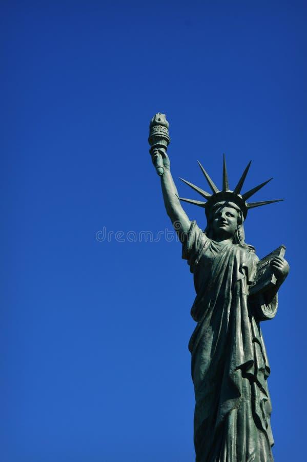 Réplica da estátua da liberdade fotografia de stock