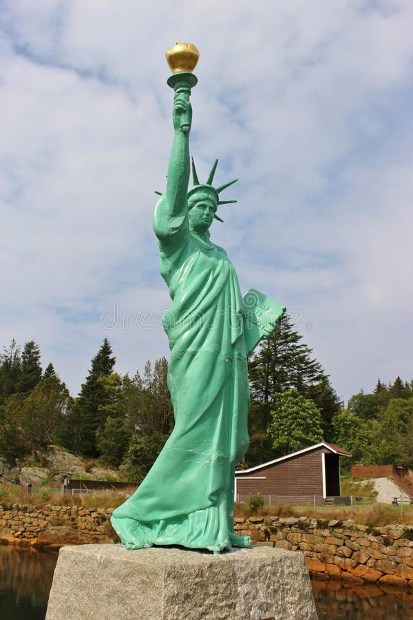 Réplica da estátua da liberdade, Noruega fotografia de stock royalty free