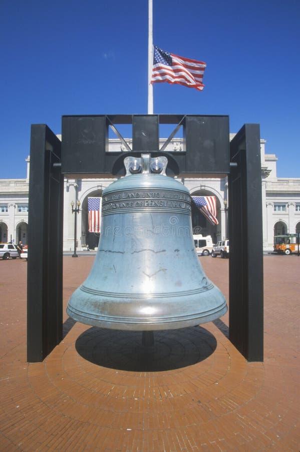 Réplica da liberdade Bell fotografia de stock royalty free