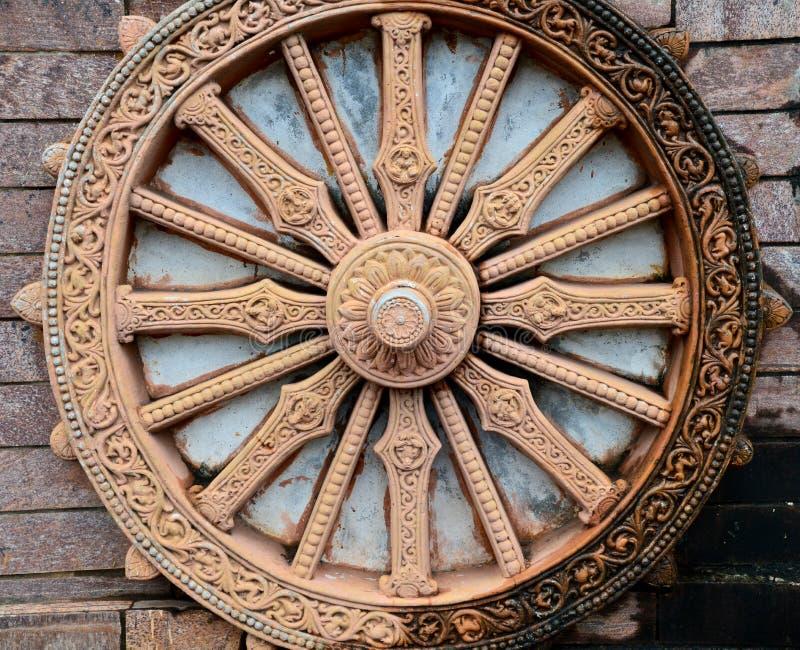 Réplica da roda de pedra de Konark fotografia de stock royalty free