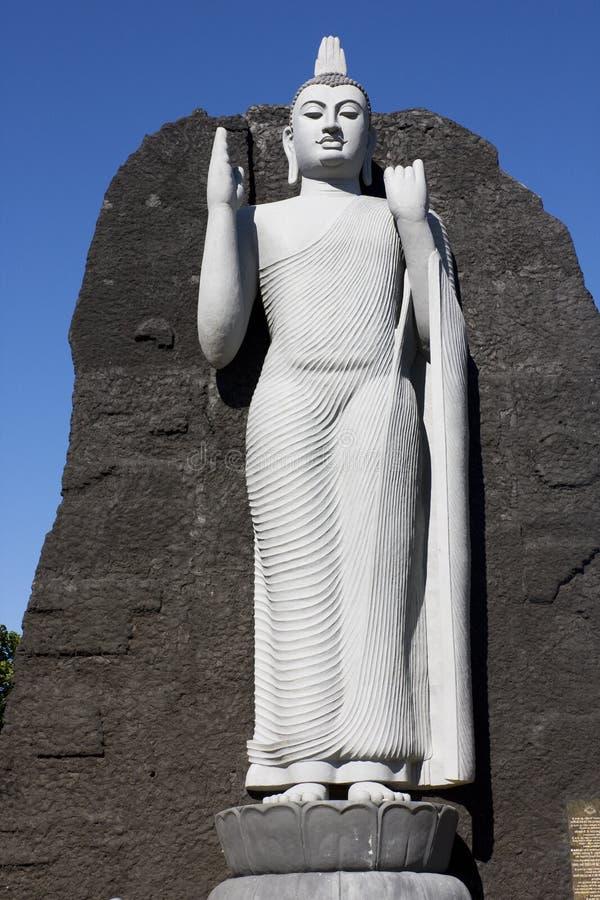Réplica de Aukana Buddha, Sri Lanka imagem de stock