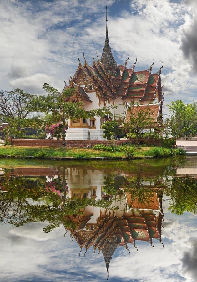 Réplica de Dusit Maha Prasat Palace, Cityf antigo Banguecoque fotografia de stock royalty free