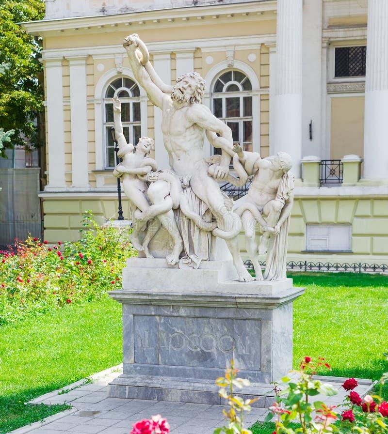 Réplica de mármore da escultura imagens de stock