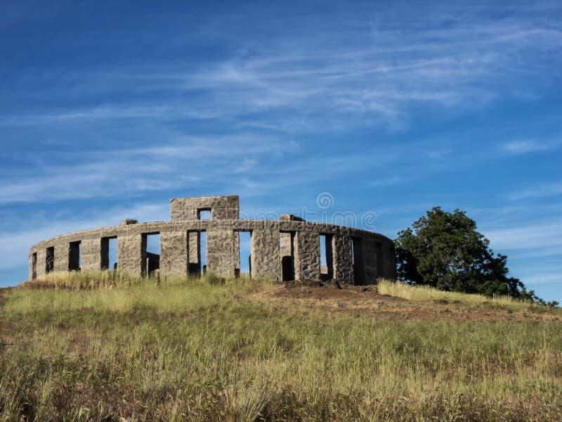 Réplica de Stonehenge imagens de stock