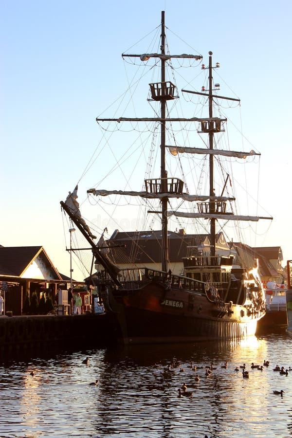 Réplica de um navio velho fotografia de stock royalty free