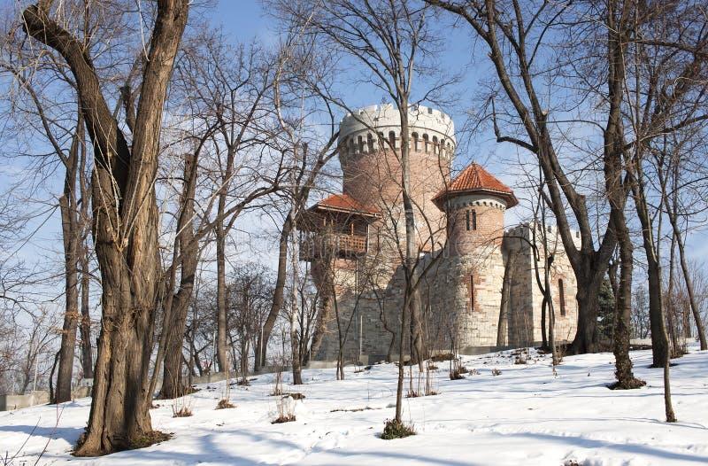 Réplica do castelo de Dracula fotografia de stock