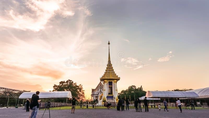 Réplica do crematório real para seu rei Bhumibol Aduly da majestade foto de stock royalty free
