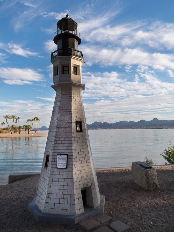 Réplica do farol em Lake Havasu, o Arizona imagens de stock royalty free