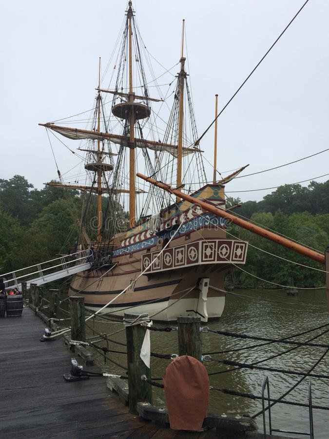 Réplica do navio de navigação usada para os Americas fotos de stock royalty free