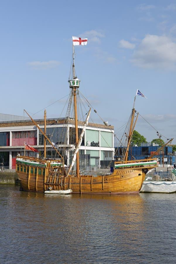 Réplica do navio Matthew do ` s de John Cabot fotografia de stock royalty free
