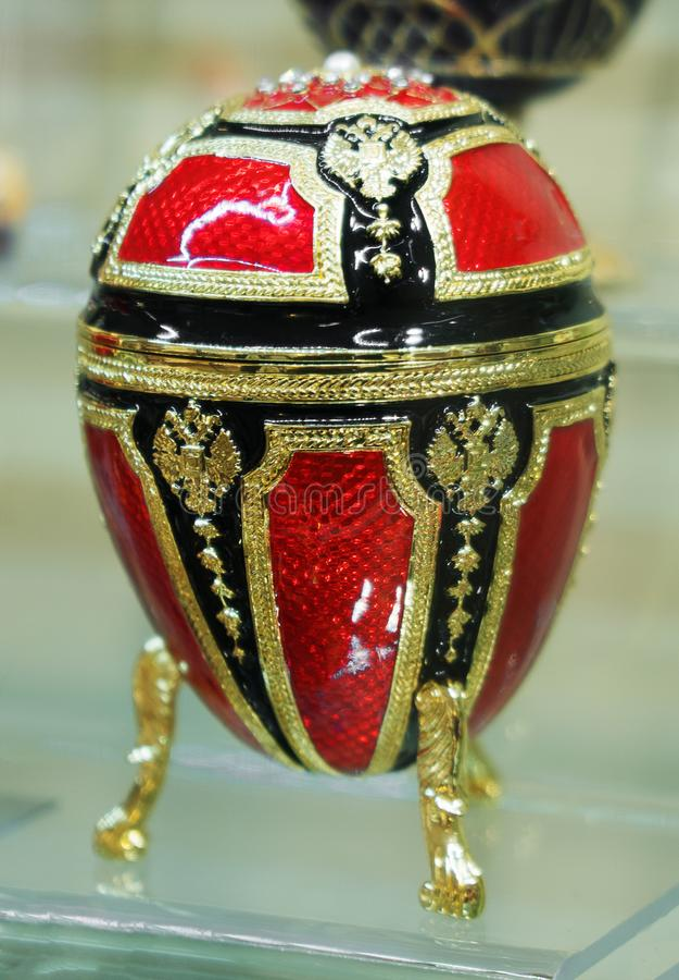 Réplica do ovo de Faberge imagem de stock