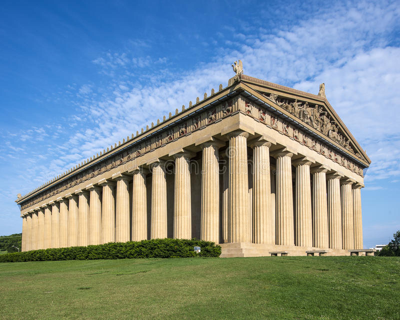 Réplica do Partenon imagem de stock