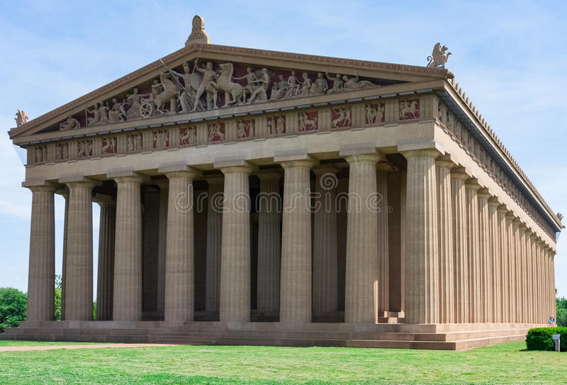 Réplica do Partenon no parque centenário imagem de stock royalty free