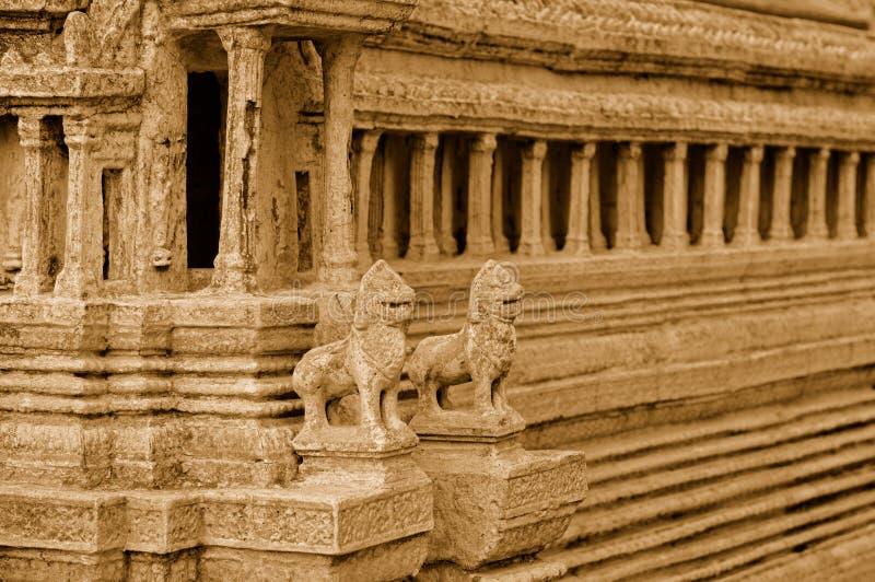 Réplica do templo de Angkor Wat imagens de stock