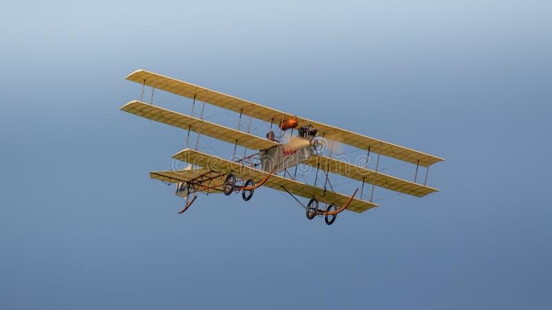 Réplica 1910 do Triplane de Avro fotos de stock royalty free