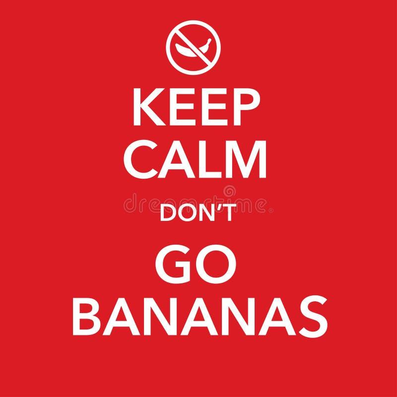 Réplica inspirador britânica do cartaz com gracejo da banana ilustração do vetor
