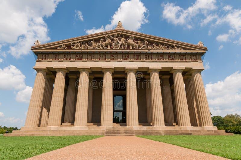 Réplica Nashville do Partenon foto de stock