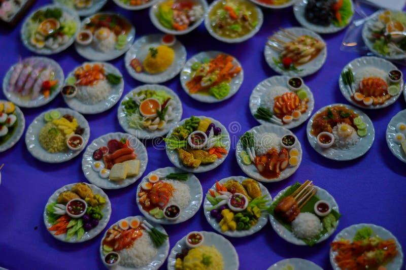 Réplica pequena do alimento fotos de stock royalty free
