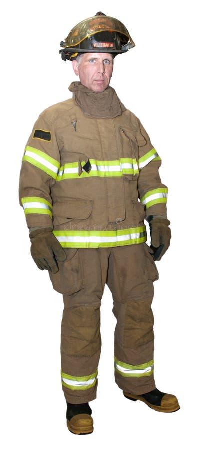 Répondeur de sauvetage de secours de pompier le premier a isolé image libre de droits
