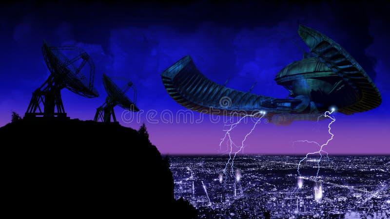 Réponse d'UFO illustration de vecteur