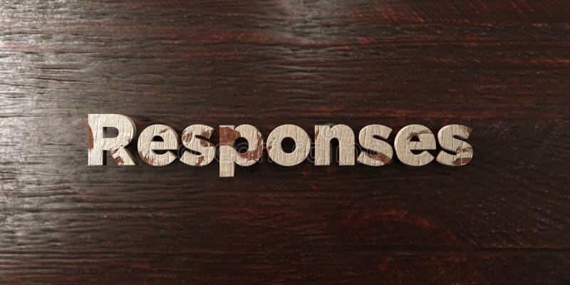 Réponses - titre en bois sale sur l'érable - image courante gratuite de redevance rendue par 3D illustration stock