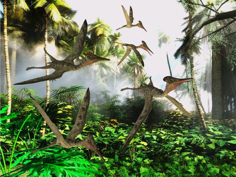 Répteis de voo do Pterodactylus ilustração royalty free