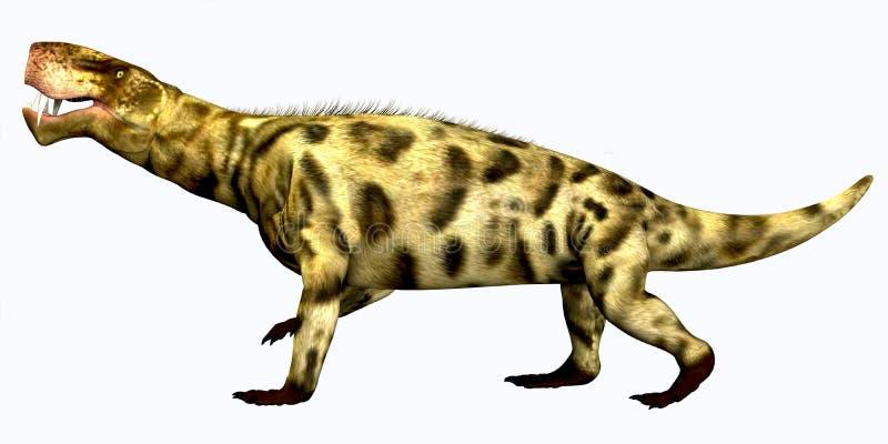 Réptil do Permian de Inostrancevia ilustração do vetor
