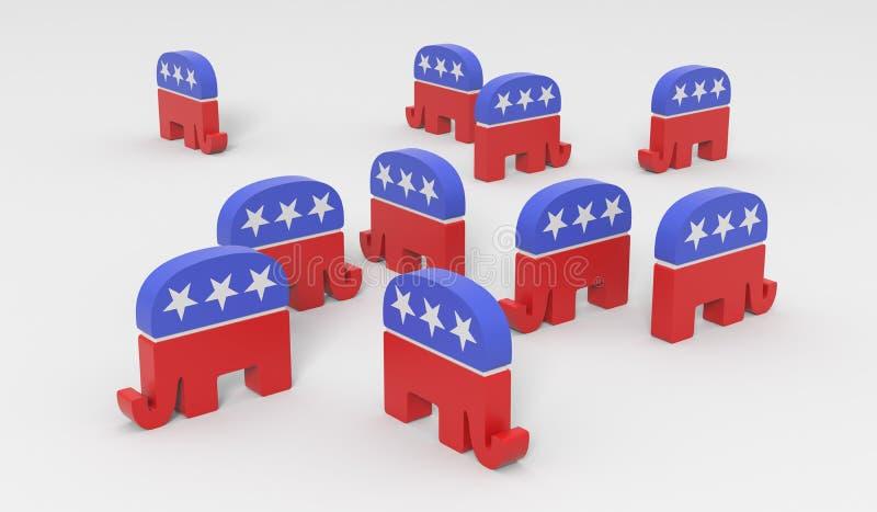 Républicains désespérément divisés illustration stock