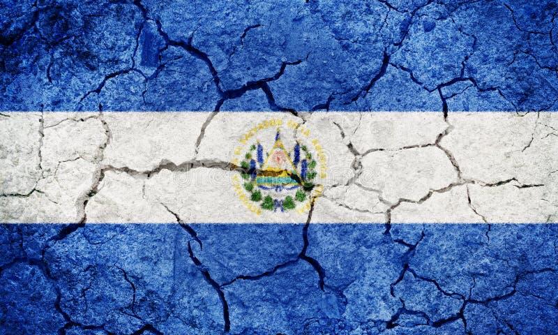 République de drapeau du Salvador image stock