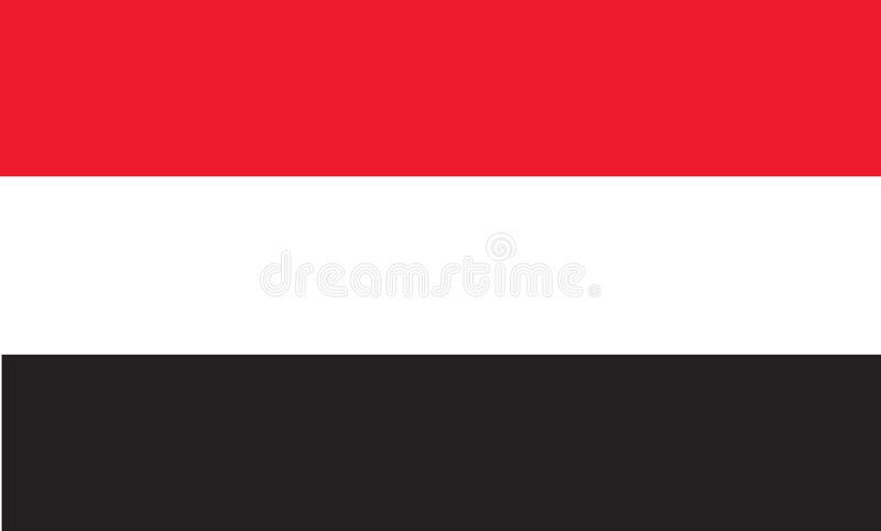 République de drapeau du Yémen illustration libre de droits