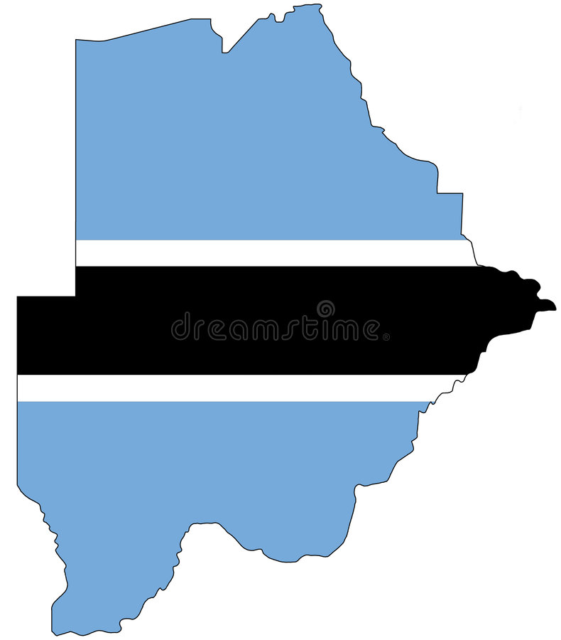 république du Botswana image libre de droits