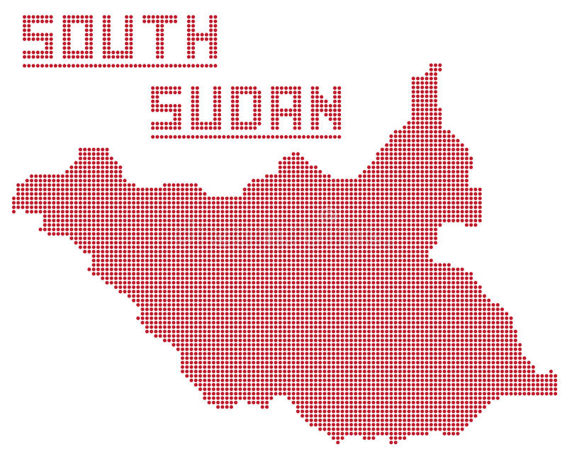 République du sud Dot Map du Soudan Afrique illustration stock