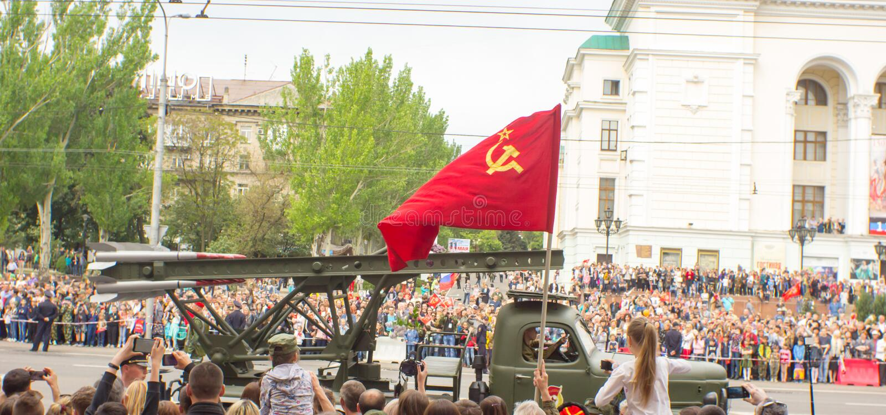 République populaire de DONETSK, Donetsk 9 mai 2018 : ` Légendaire soviétique de Katuysha de ` du système de lance-roquettes mult images stock