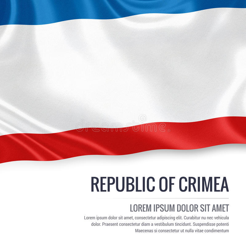 République russe d'état de drapeau de la Crimée illustration stock