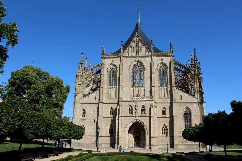République Tchèque, ¡ Hora, église de Kutnà de St Barbara photos libres de droits