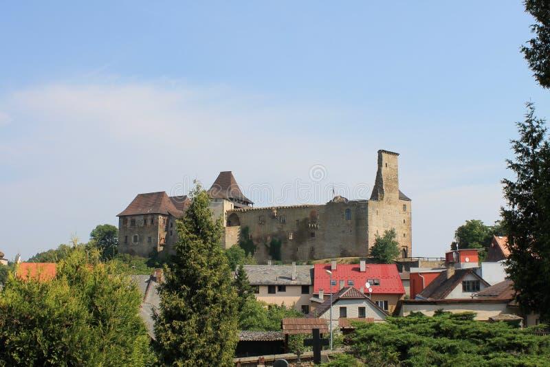 République Tchèque de Lipnice NAD Sazavou de château photo stock