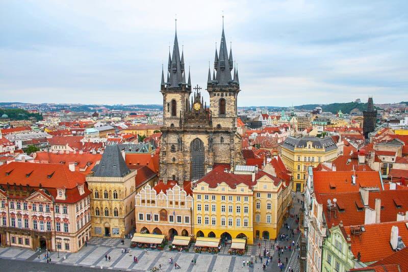 République Tchèque de vieille place de Prague images stock